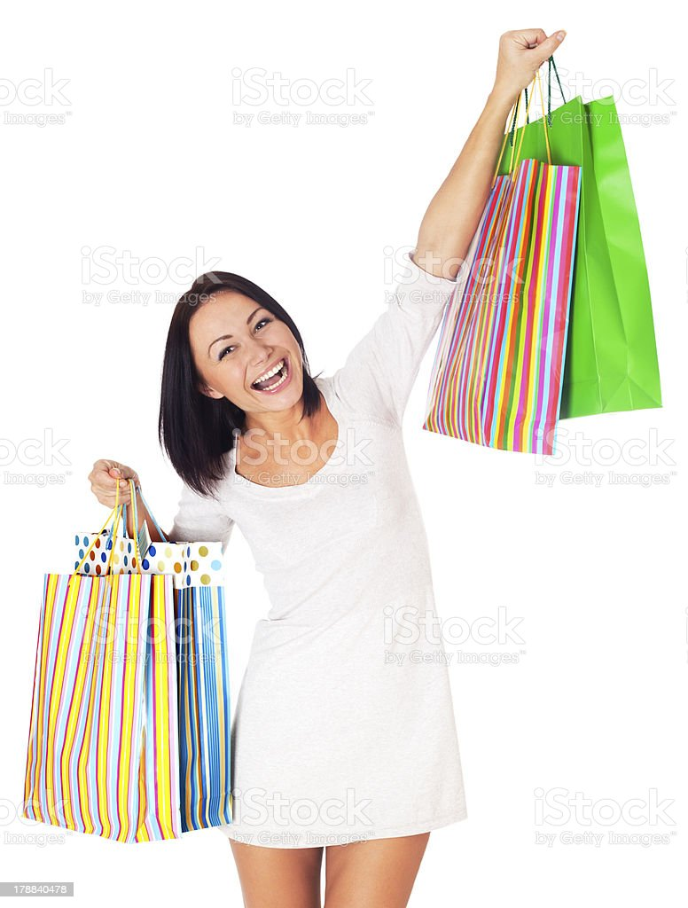 Shopping Woman. royalty-free stock photo