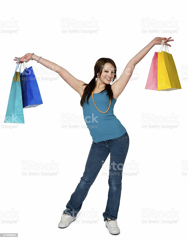 shopping woman royalty free stockfoto