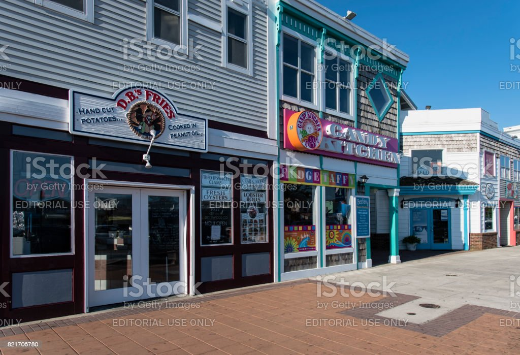 Shops Along Garfield Parkway in Bethany Beach, Delaware stock photo