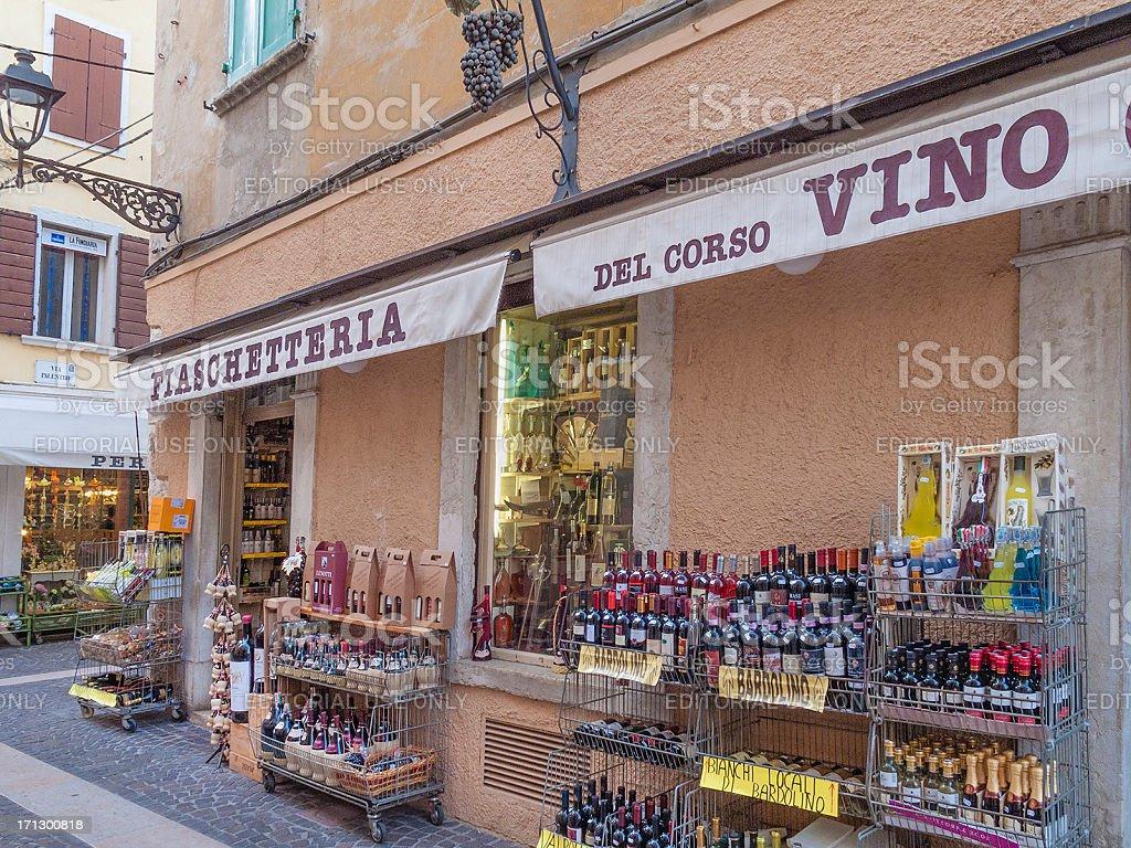Shops in Bardolino, Lake Garda, Italy royalty-free stock photo