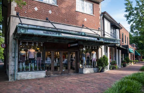 Shops in Biltmore Village, Asheville, NC stock photo