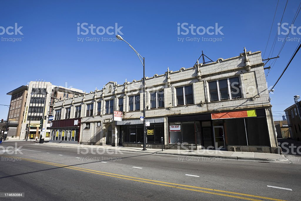 Shops in Bridgeport Chicago royalty-free stock photo