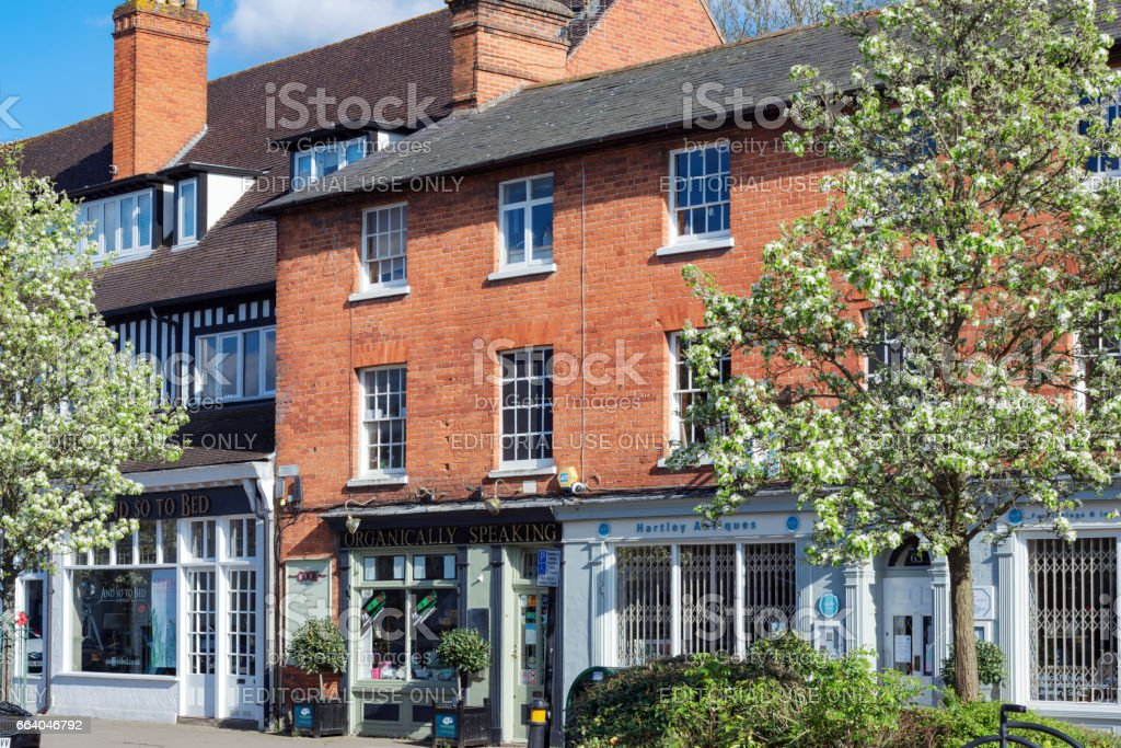 Shops in Hartley Wintney High Street stock photo