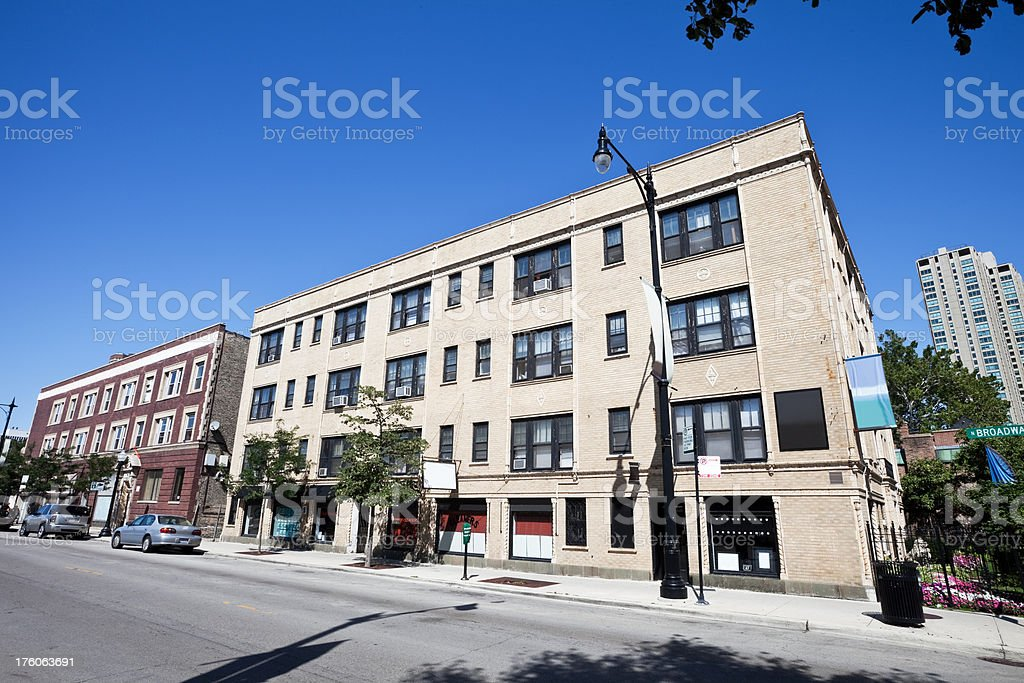 Shops in Lake View Chicago royalty-free stock photo