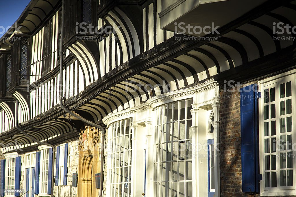 Shops in York, England stock photo
