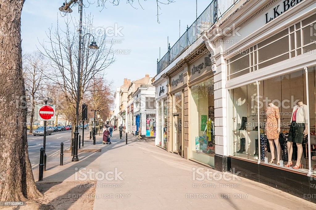 Shops On A City High Street royalty-free stock photo