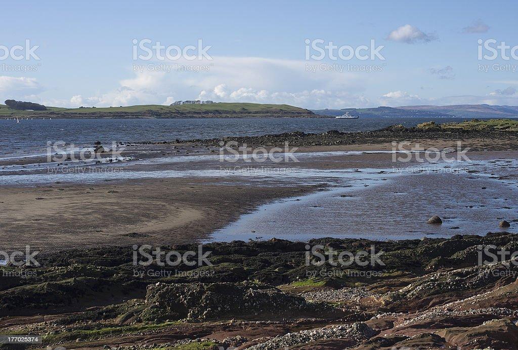 Shore and Cumbrae stock photo
