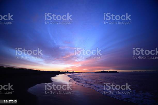 Photo of Shore and Enoshima of the morning glow