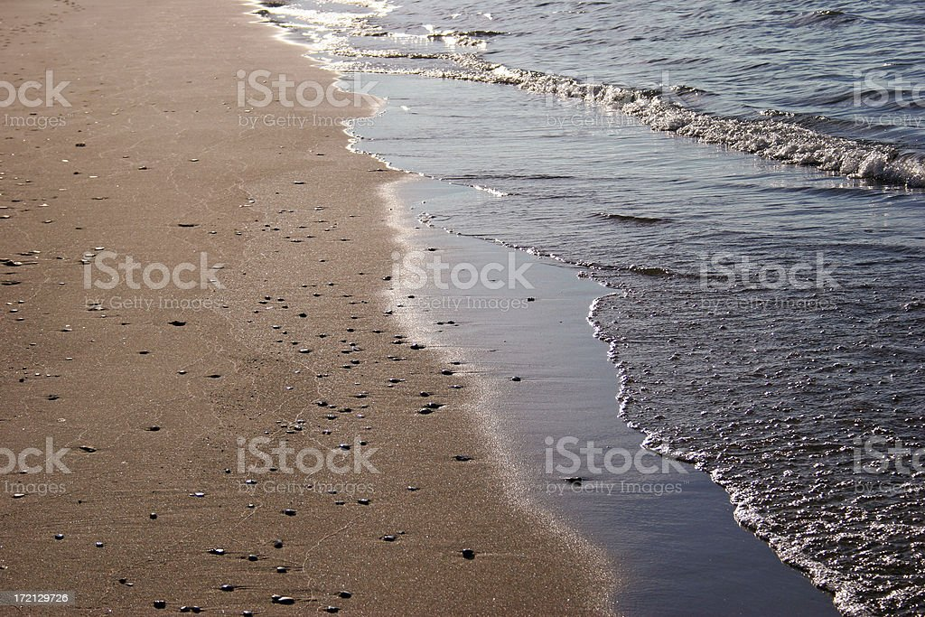 Shore at Lake Michigan royalty-free stock photo