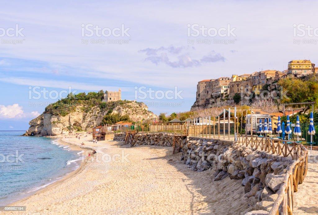 Shore at Santa Maria Island - Tropea stock photo