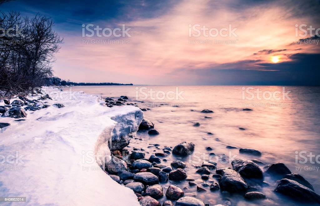 Shore lake stock photo