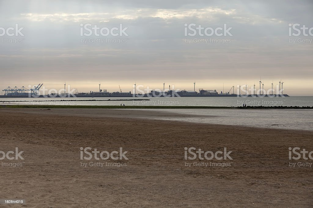 Shore Line Industry royalty-free stock photo