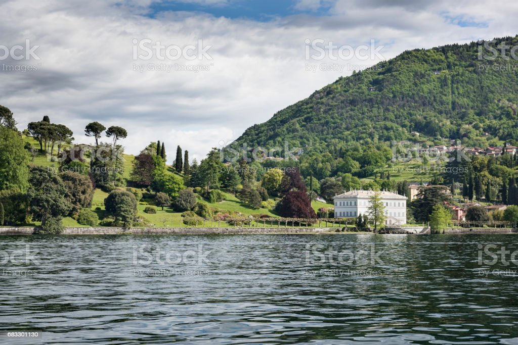 Shore of Lake Como Near Bellagio, Italy photo libre de droits