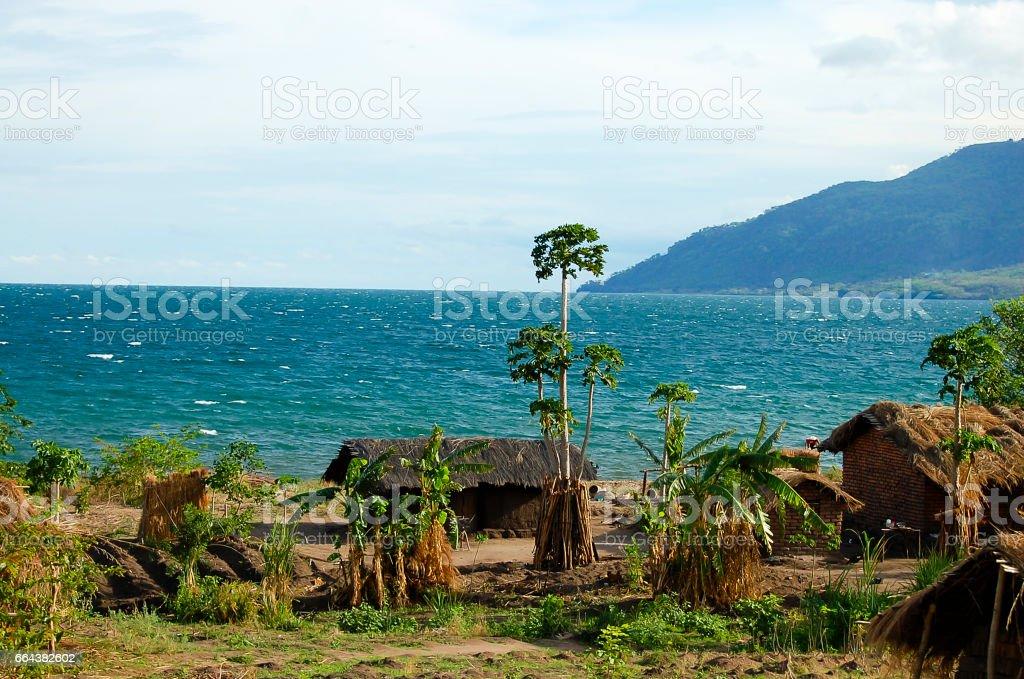 Shore of Lake Malawi - Malawi stock photo