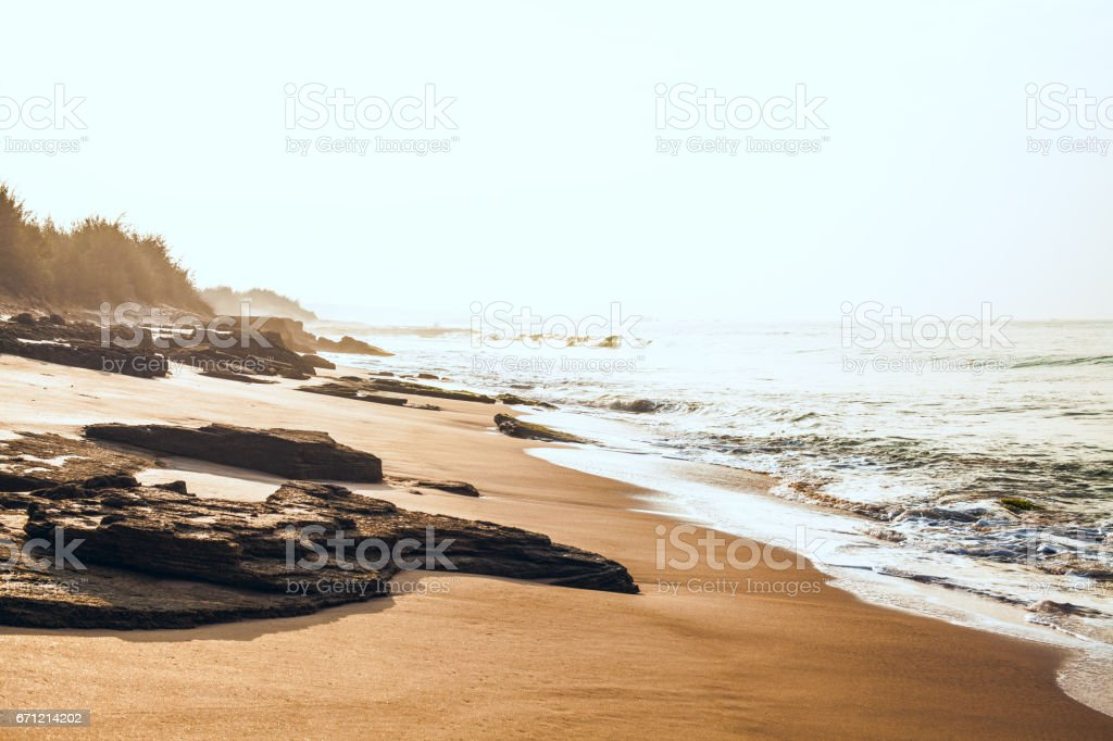 Shore of the Indian Ocean stock photo