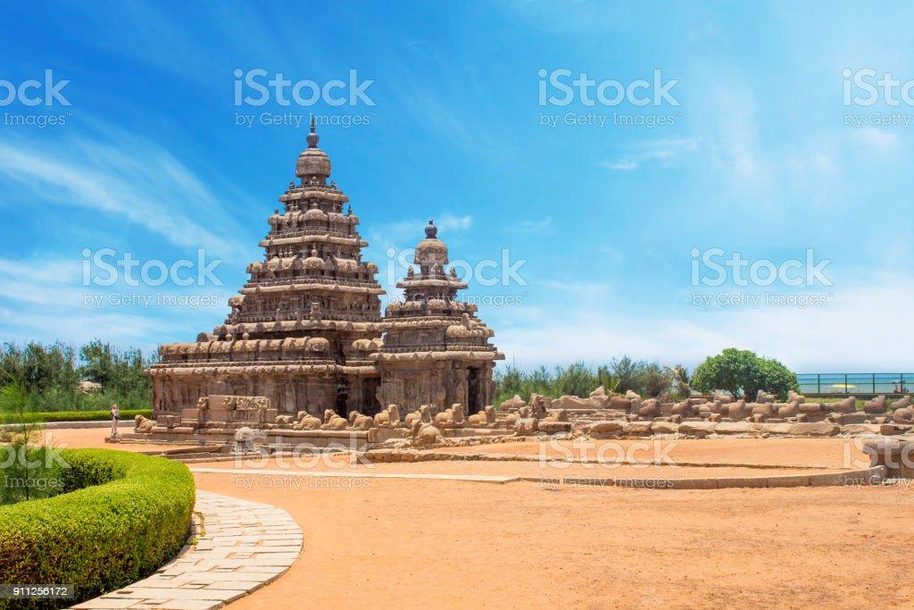 Shore temple at Mahabalipuram, Tamil Nadu, India stock photo