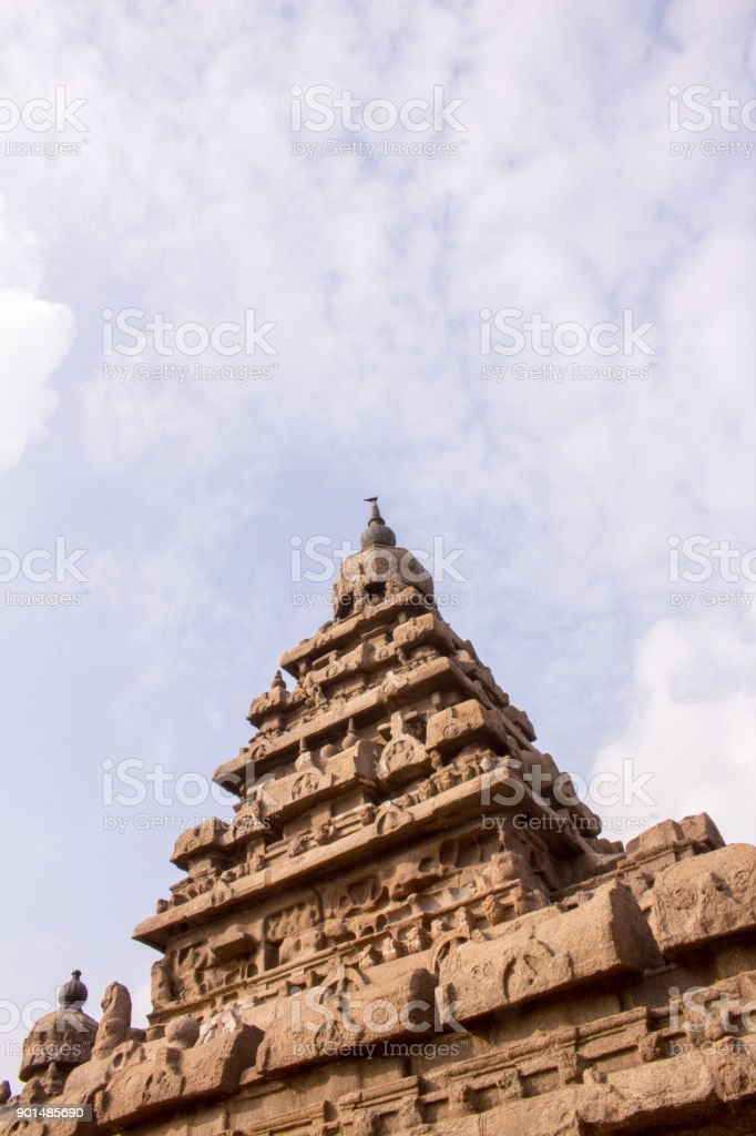 shore temple in India stock photo