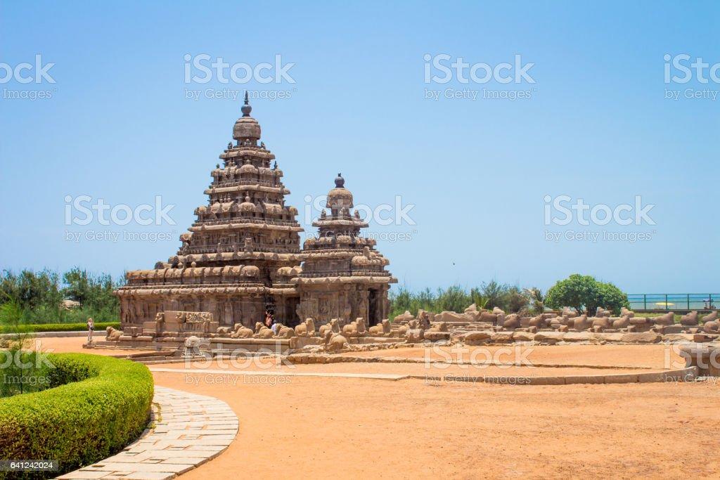 Shore temple, Mahabalipuram, India stock photo