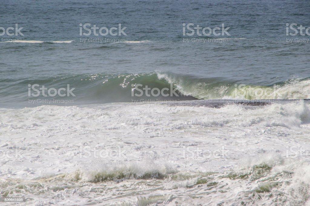 Shorebreak de Copacabana stock photo