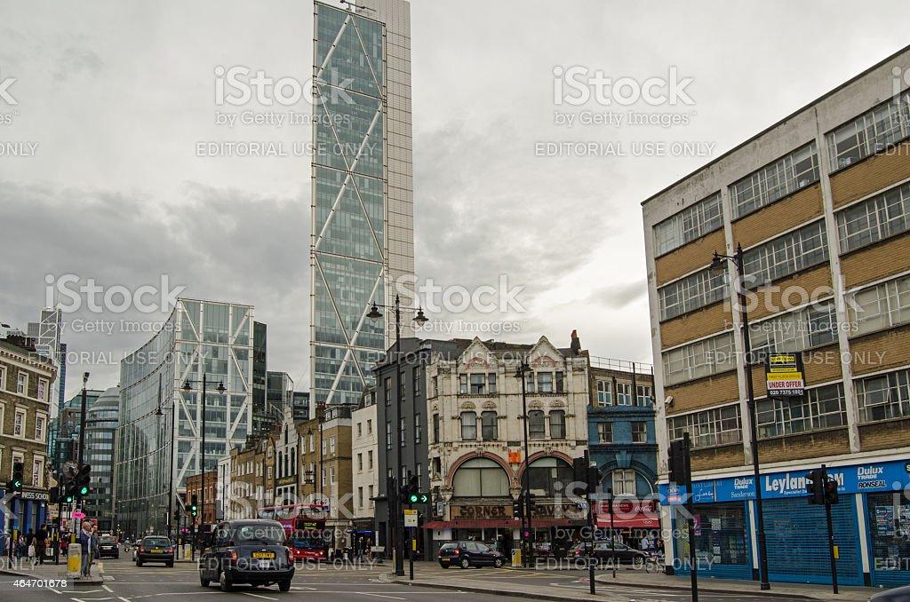 Shoreditch High Street, London stock photo