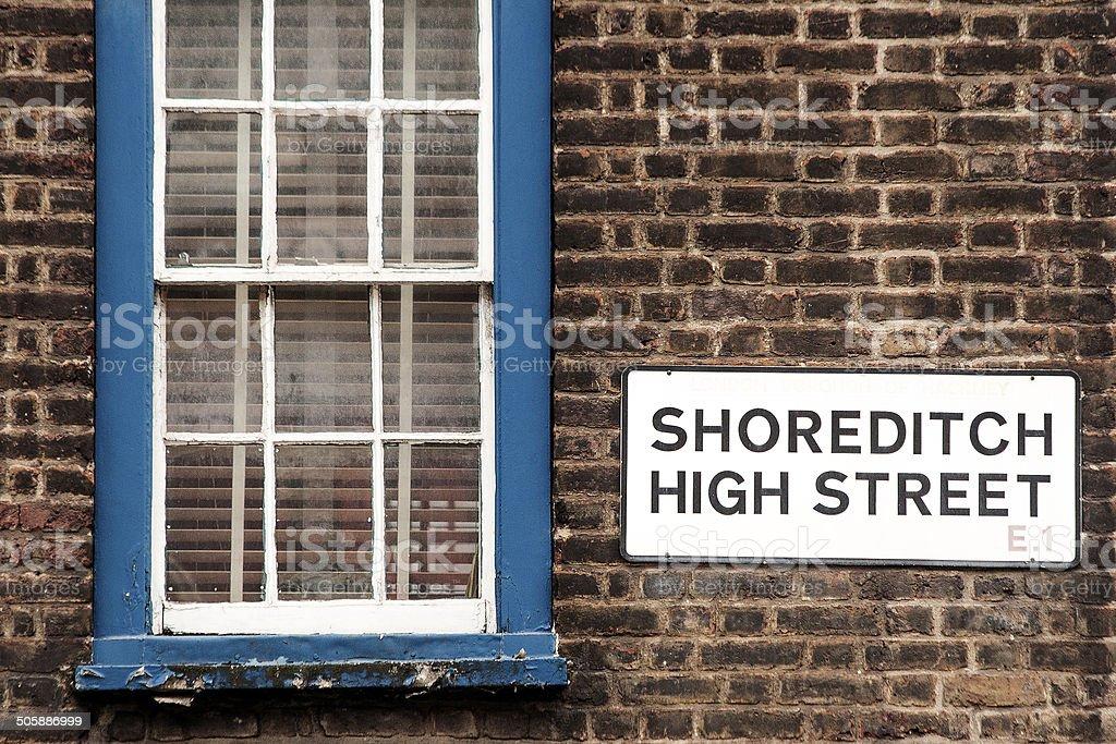 Shoreditch High Street stock photo