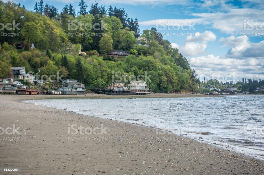 Shoreline At Dash Point 2 royalty-free stock photo