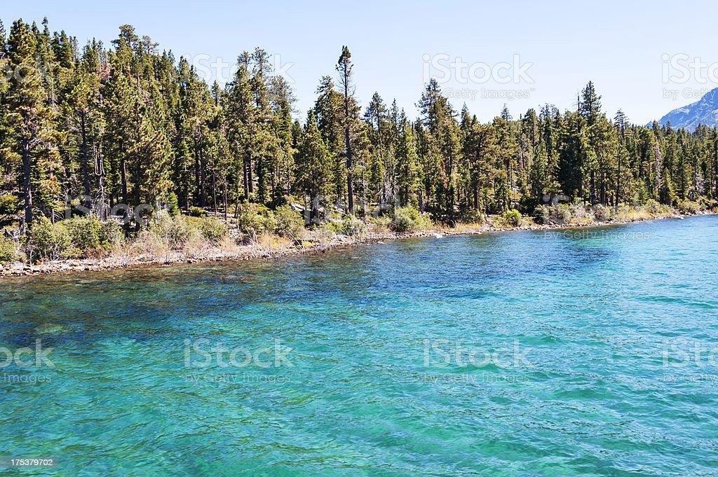 Shoreline Emerald Bay royalty-free stock photo