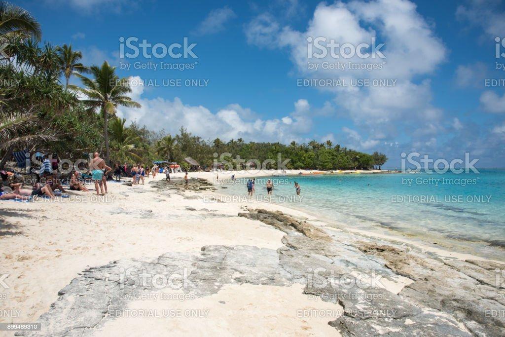 Shoreline Escape: Mystery Island stock photo