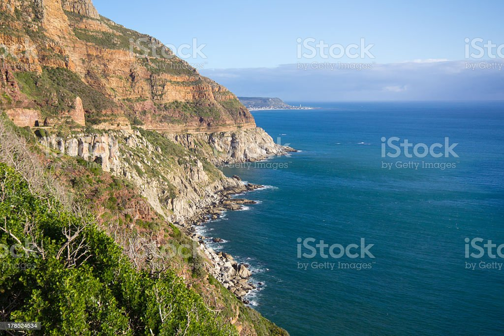 Shoreline near Cape Point, South Africa stock photo