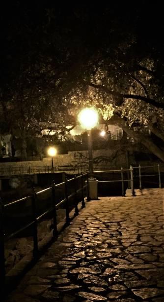 Shoreline walkway in Opatija, Croatia stock photo