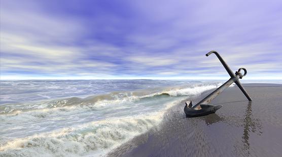 istock Shoreline with anchor 480268212