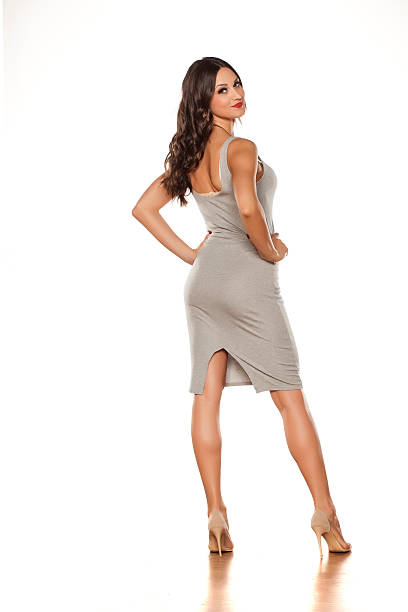 short dress and high heels - mini dress stock photos and pictures
