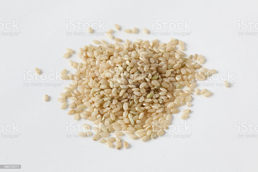 short grain brown rice royalty-free stock photo
