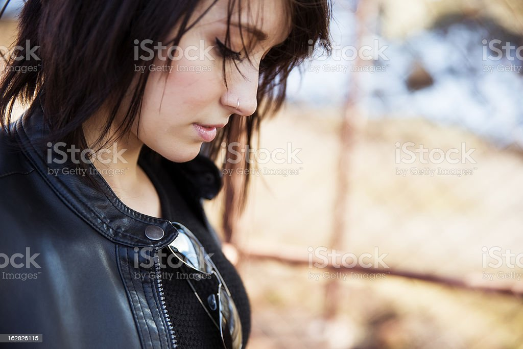 Short haired woman portrait royalty-free stock photo