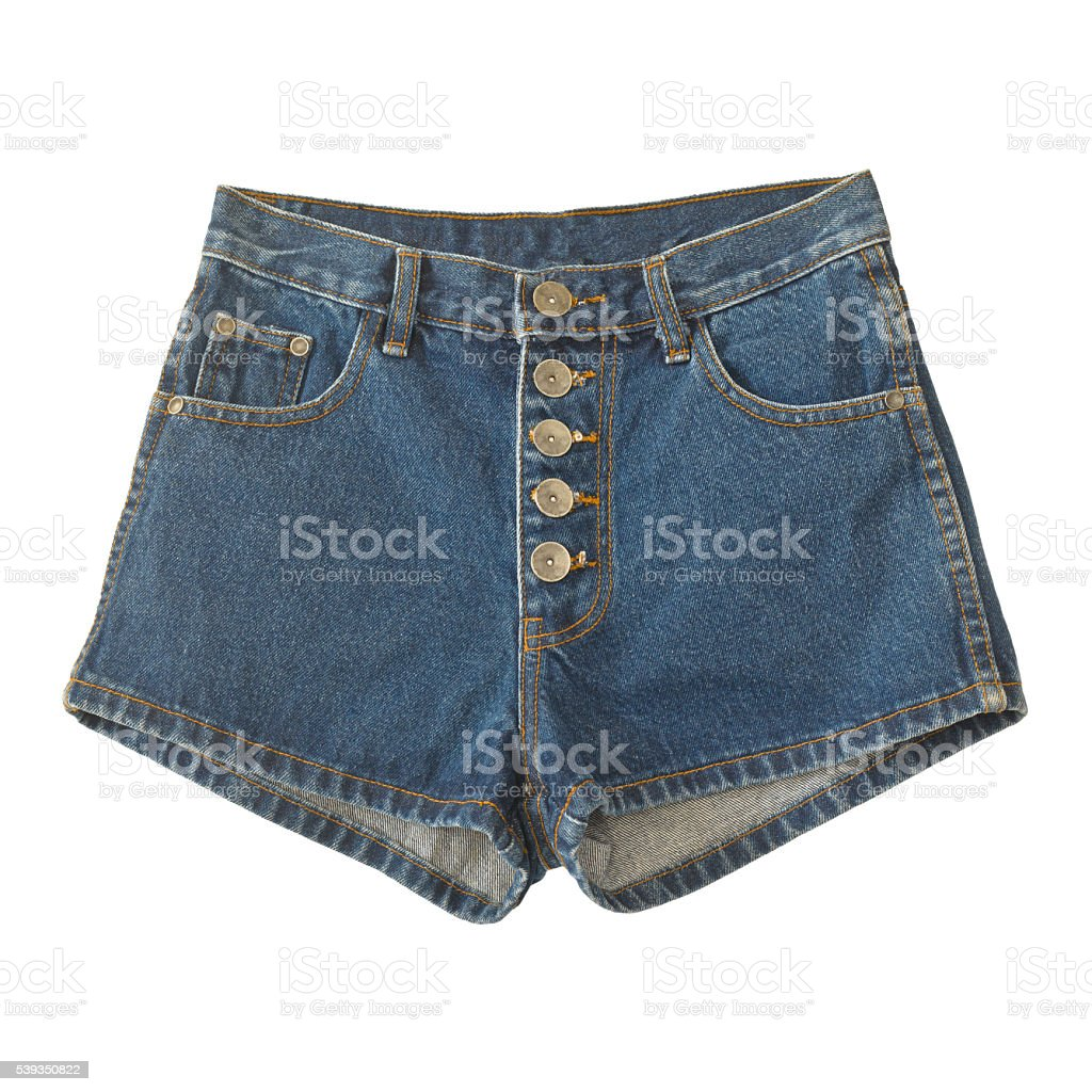 short jean isolated on white stock photo