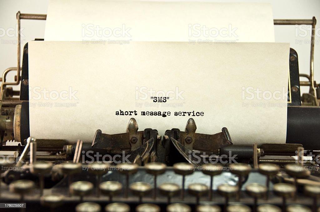 Short Message Service stock photo