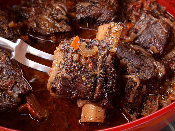 short rib preparation - braised stock pictures, royalty-free photos & images