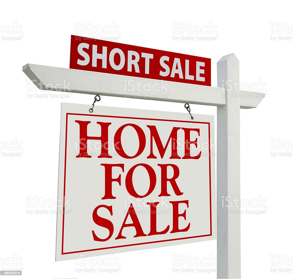 Short Sale Real Estate Sign - Left royalty-free stock photo