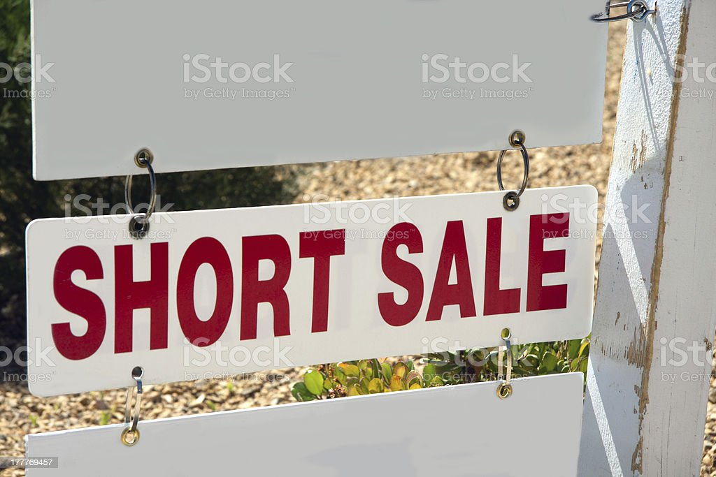 short sale sign stock photo
