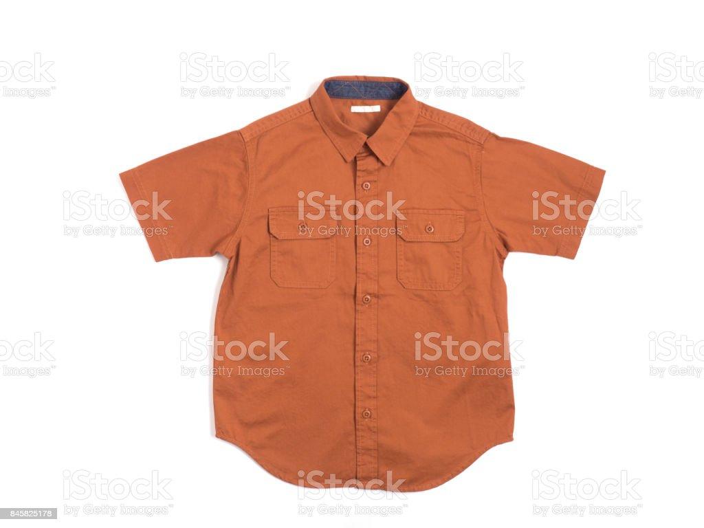 Short sleeve shirt for children stock photo