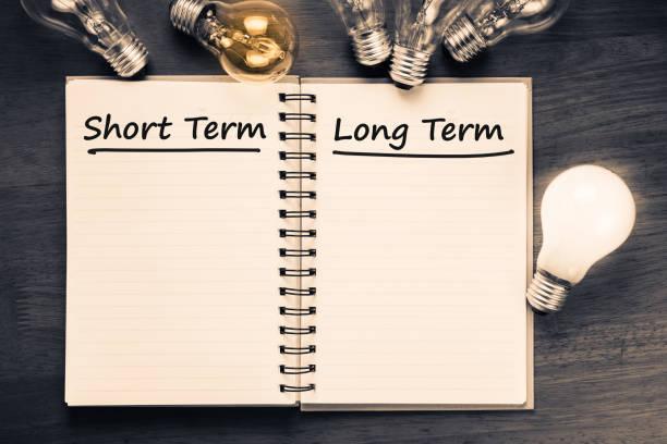 Short term and Long term stock photo