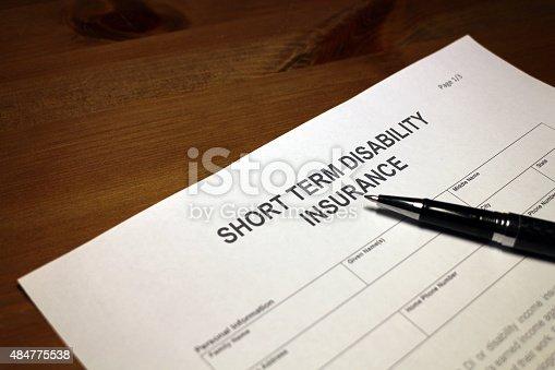 istock Short term Disability Insurance Application Form 484775538