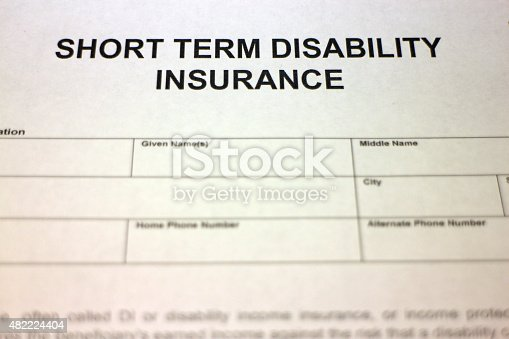 istock Short term Disability Insurance Document 482224404
