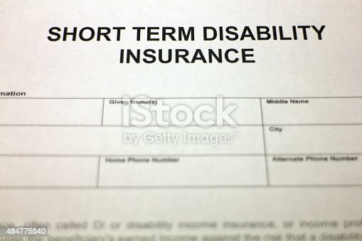 istock Short term Disability Insurance Document 484775540