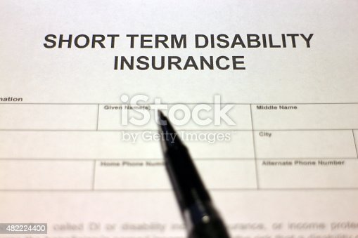 istock Short term Disability Insurance 482224400