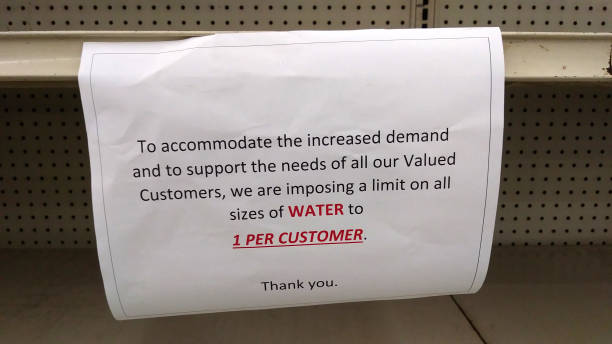 A Shortage of Water During a Crisis stock photo