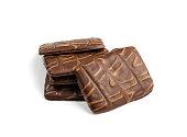istock Shortbread Biscuit Coated in Milk and Dark Chocolate 1293937244
