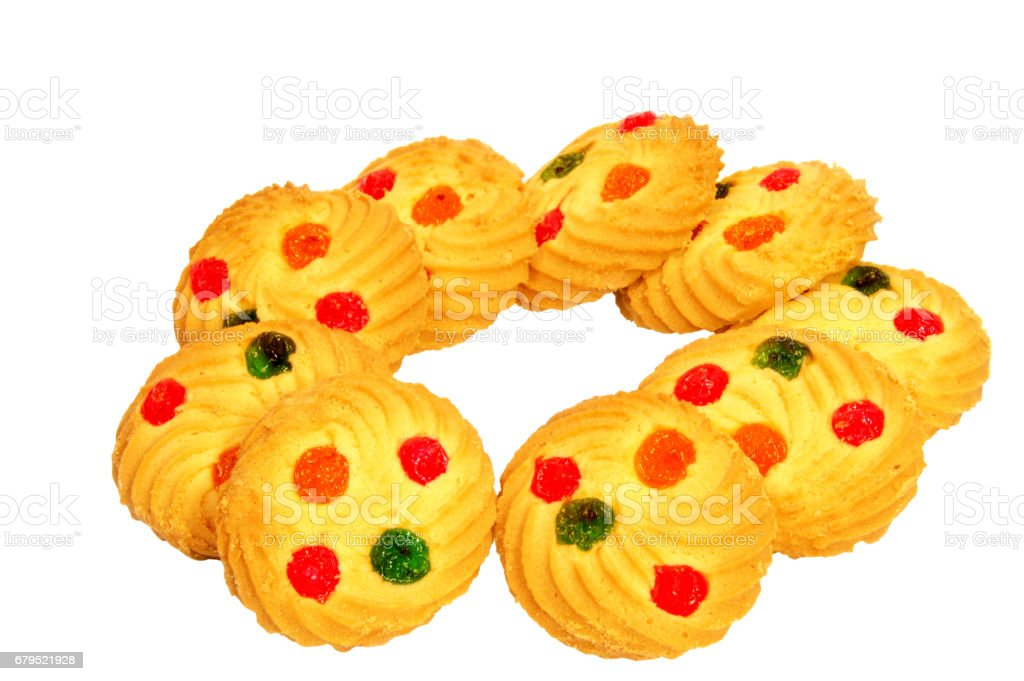 Shortbread biscuits on a white background . . . royalty-free stock photo