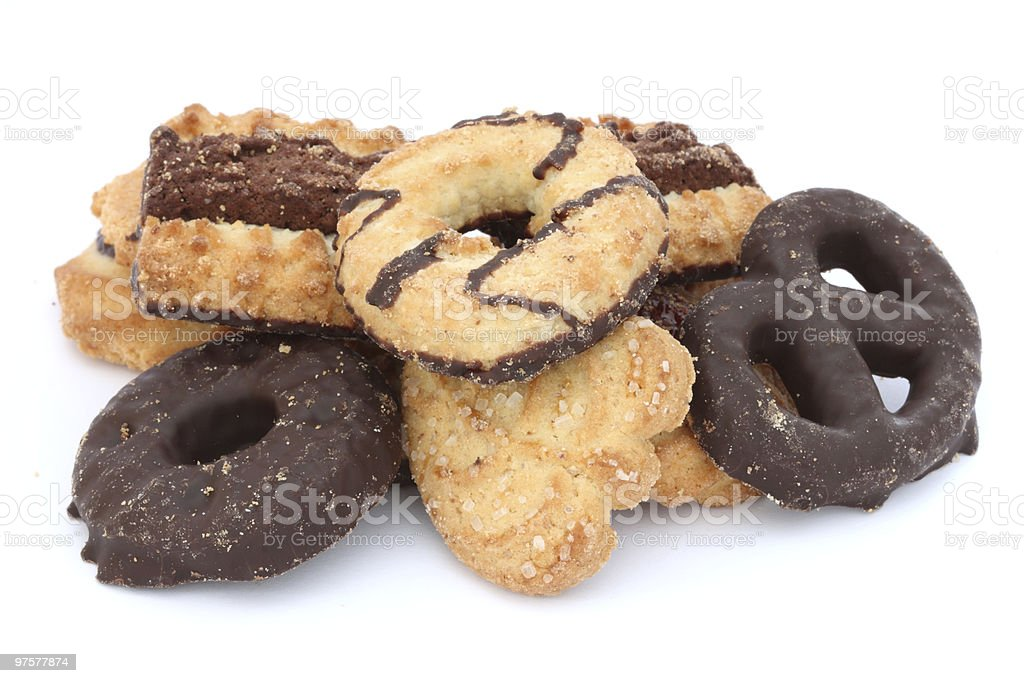 Sablé beurre biscuits photo libre de droits