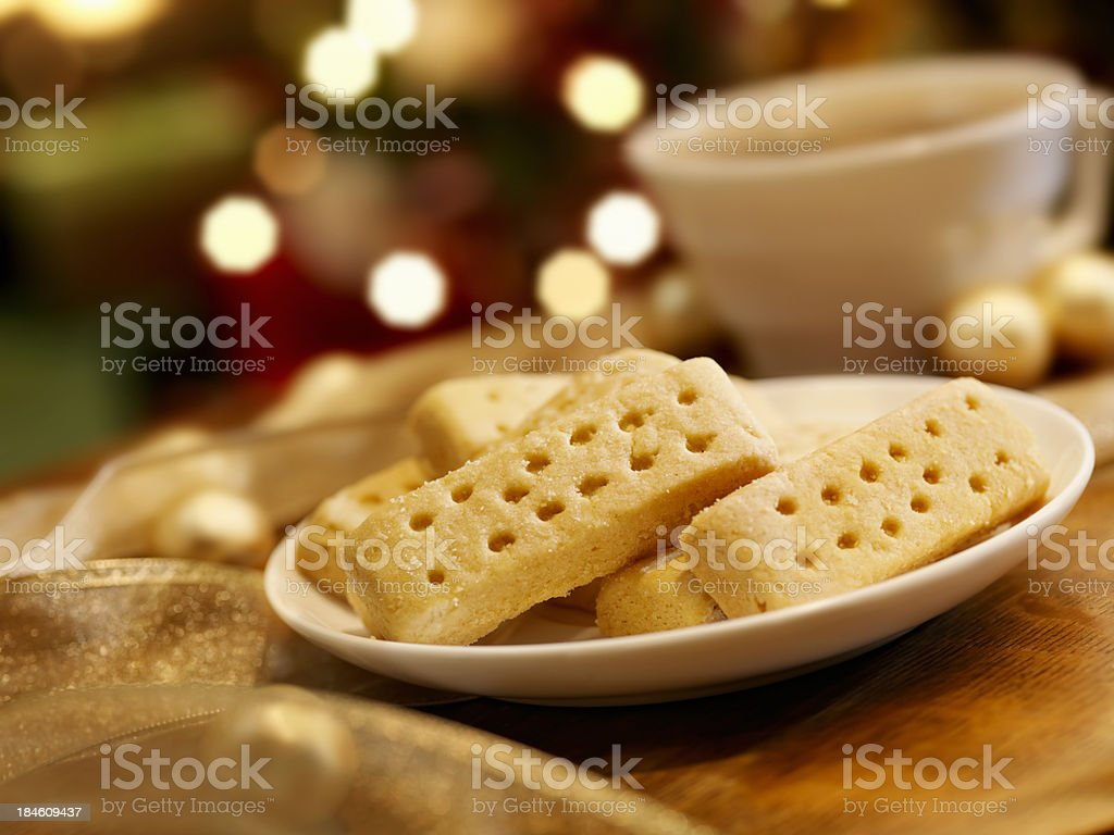 Shortbread Cookies at Christmas Time stock photo